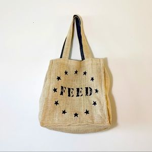 Feed + Target Jute Tote Chambray Lined Colab